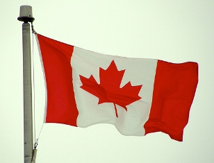 Canada flag: Image from Flickr by scazon